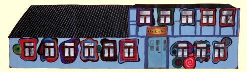 Fassade blau Entwurf