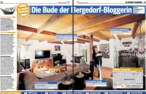 HeidivomLande, Bergedorf, Bergedorf Blog, Hamburg, HeidivomLande, MOPO, Morgenpost, Pressemitteilung, MOPO 01.06.2015, Wohnzimmer, Serie, Ausstellung, Rike Schulz, Volker Schimkus