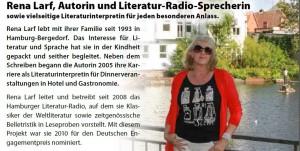 Rena Larf, Autorin, Literatur, HeidivomLande, Blog, Interview, Zeitung, Vorstellung