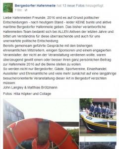 Hafenmeile 2016, Bergedorf, HeidivomLande, Heidi vom Lande, Aus für Hafenmeile, Fest, Programm, Party, Event