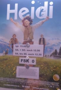 HeidivomLande, Heidi vom Lande, Der Blog aus und für Bergedorf, Heidi, Kinderbuch-Klassiker, Neuverfilmung, der Film, Bruno Ganz, Anuk Steffen, Deine Welt sind die Berge, Kino
