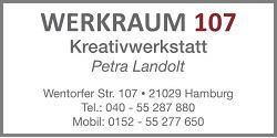 HeidivomLande, Bergedorf, der Bergedorfer Blog, Blogger, regionale Tipps, Werbung, Anzeige, Geschäfte, Hamburg Bloggerin, Werkraum 107, Kreativ, Basteln, Workshops, Kurse, Petra Landolt