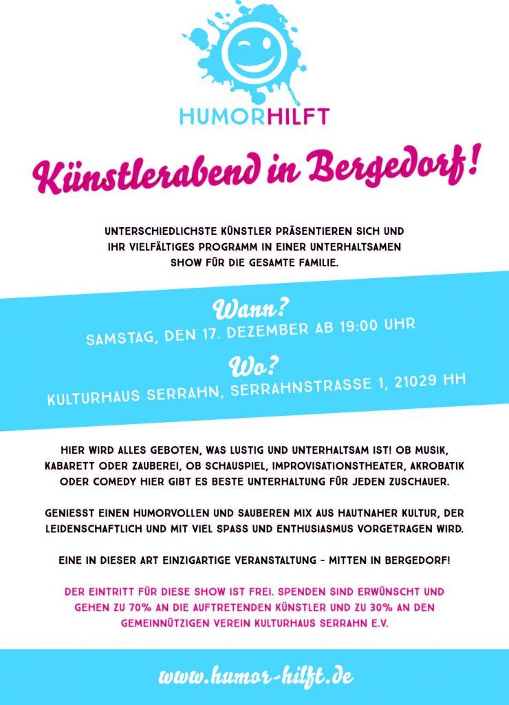 Heidi vom Lande, Der Blog aus und für Bergedorf, Gastronomie, Humor hilft, Künstlerabend, Niels Romeikat