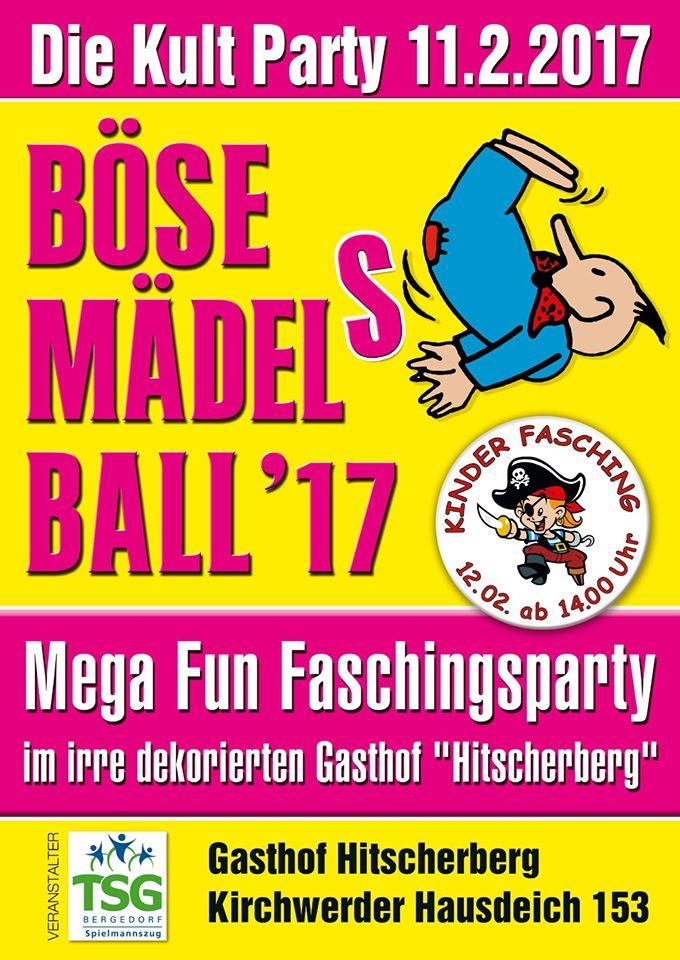 Bergedorf, HeidivomLande, Heidi, Norddeutschland, wilde Kostümparty, Fasching, Party, Böse Mädels Ball, Gewinnspiel, Tickets