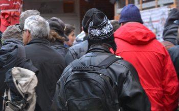 Kiezalm Hamburg, Obdachlose, Jahresausklang für Obdachlose,  Spende für Wohnungslose