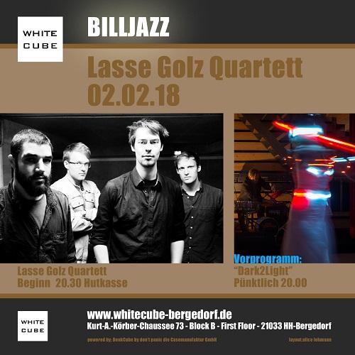 Billjazz-Reihe, Jazz, Lasse Golz Quartett, White Cube, Bergedorf, HEIDI VOM LANDE, Bergedorf Blog, Veranstaltungstipps