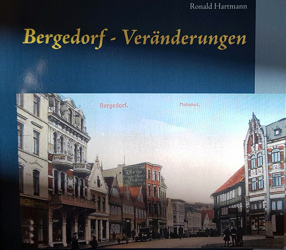 Bergedorf Veränderungen, Bergedorf, Mohnhof, Bildervergleich, damals, heute, Gewinnspiel, Ronad Hartmann, bauliche Veränderung, Gegenüberstellung alte Bilder mit aktuellen Ansichten, Bergedorf-Buch, Postkarten