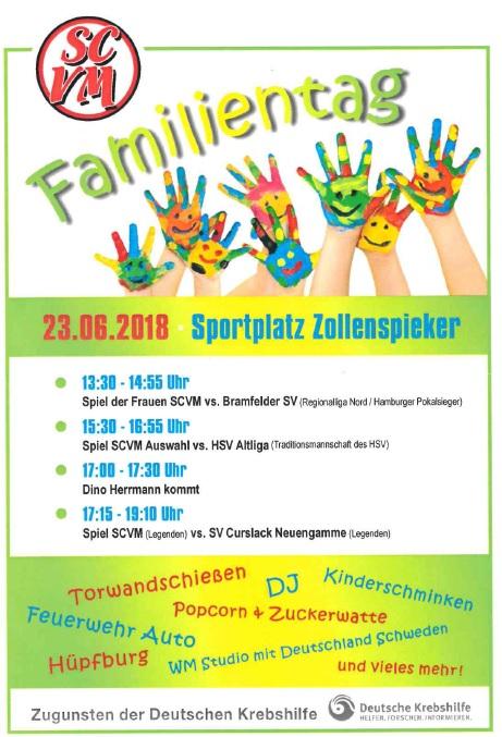Familientag, Family Day, Zollerspieker Sportplatz, Vier- und Marschlande, Deutsche Krebshilfe, Sanne´s Clubhaus, Veranstaltungstipp, Spendenaktion, Bergedorf Blog
