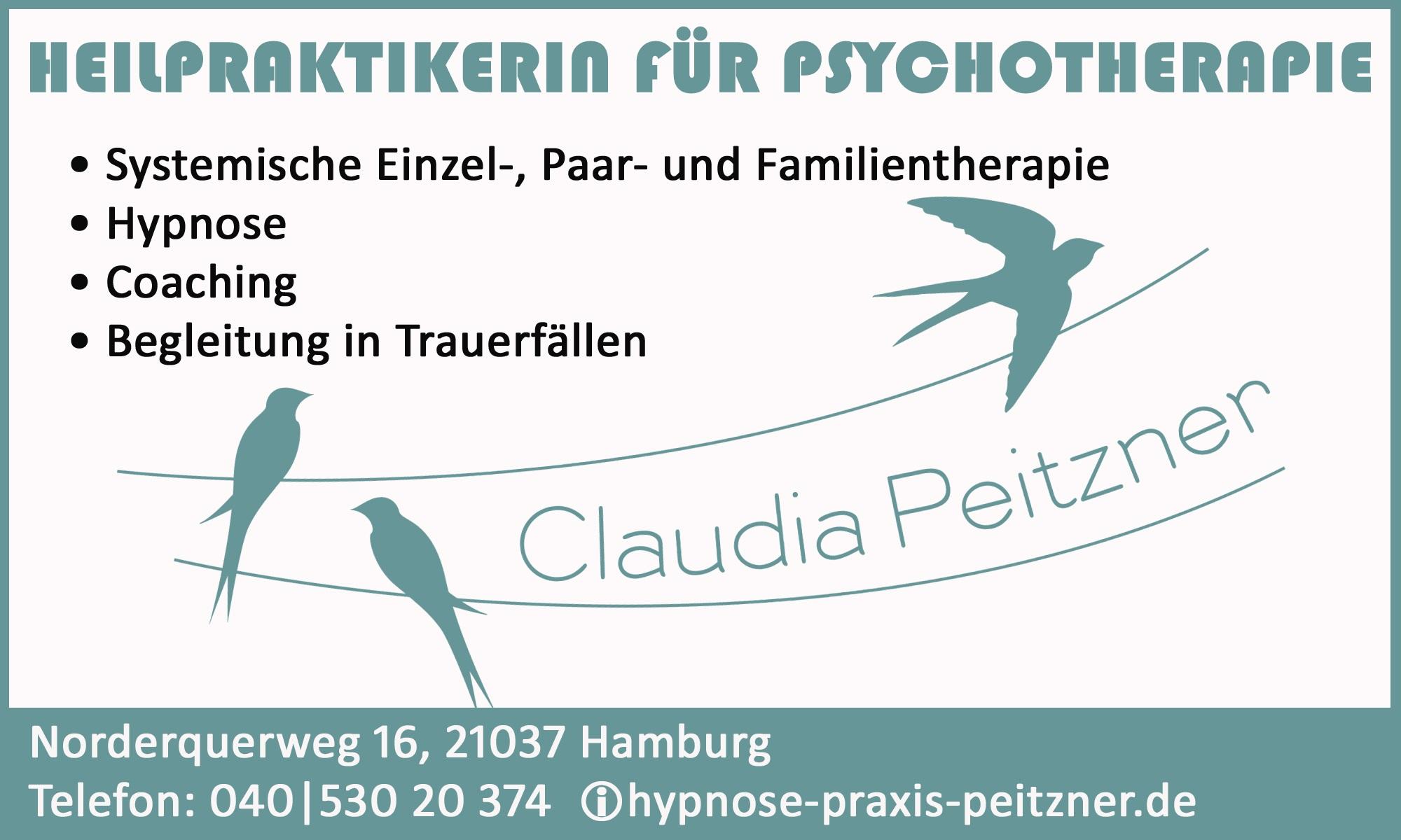 Claudia Peitzner, Heilpraktikerin für Psychotherapie, Therapie, Coaching, Angst, Ängste, Trauerbegleitung, Hypnose, Psychoonkologische Beratung, Trauercafe, Kirchwerder, Hamburg, Angstzustände, Selbstwert, Konfliktbewältigung