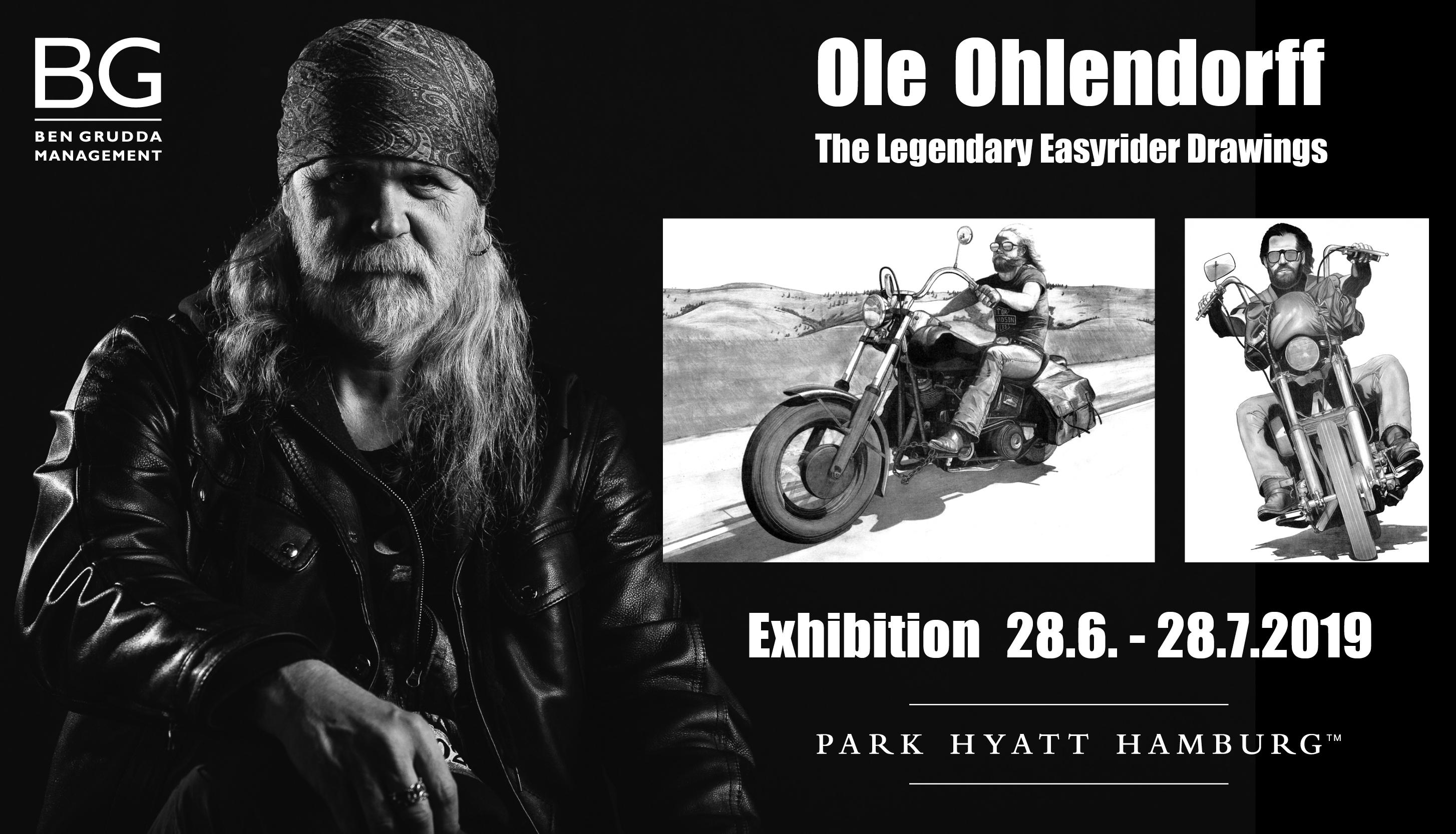 Bulle – Rocker – Maler: A life full of rock'n'roll! Künstler Ole Ohlendorff lädt Harley Fahrer ins Park Hyatt Hamburg ein