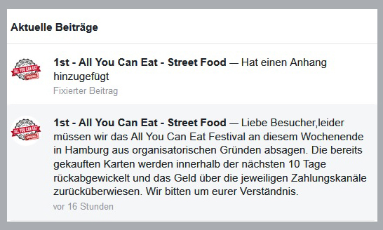 1st, All you can eat, Food Truck Festival, 2019, Bergedorf, Hamburg, Absage, Frascatiplatz, News, Nachrichten