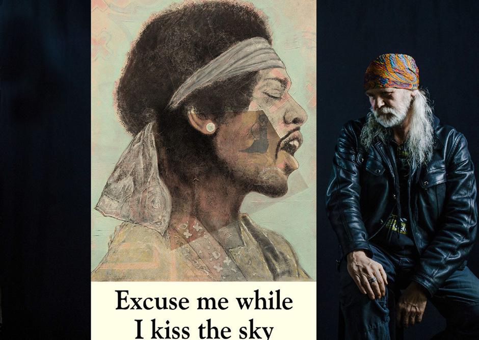 Jimi Hendrix, imposantes Kunstwerk, Online-Auktion, Rockmusiklegende, Ole Ohlendorff, Künstler, Hamburg, weltweit, Fine-Art-Porträt, Exponat, Stone Free, Dead Rock Heads, Hommage an verstorbene Musiker, HEIDI VOM LANDE, Blog News