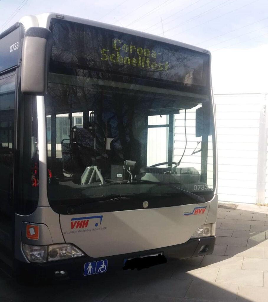 VHH, Hamburg, Testbus, Corona-Test, Arbeitsschutz, Beschäftigte, Homeoffice, Nachrichten, Testbusse