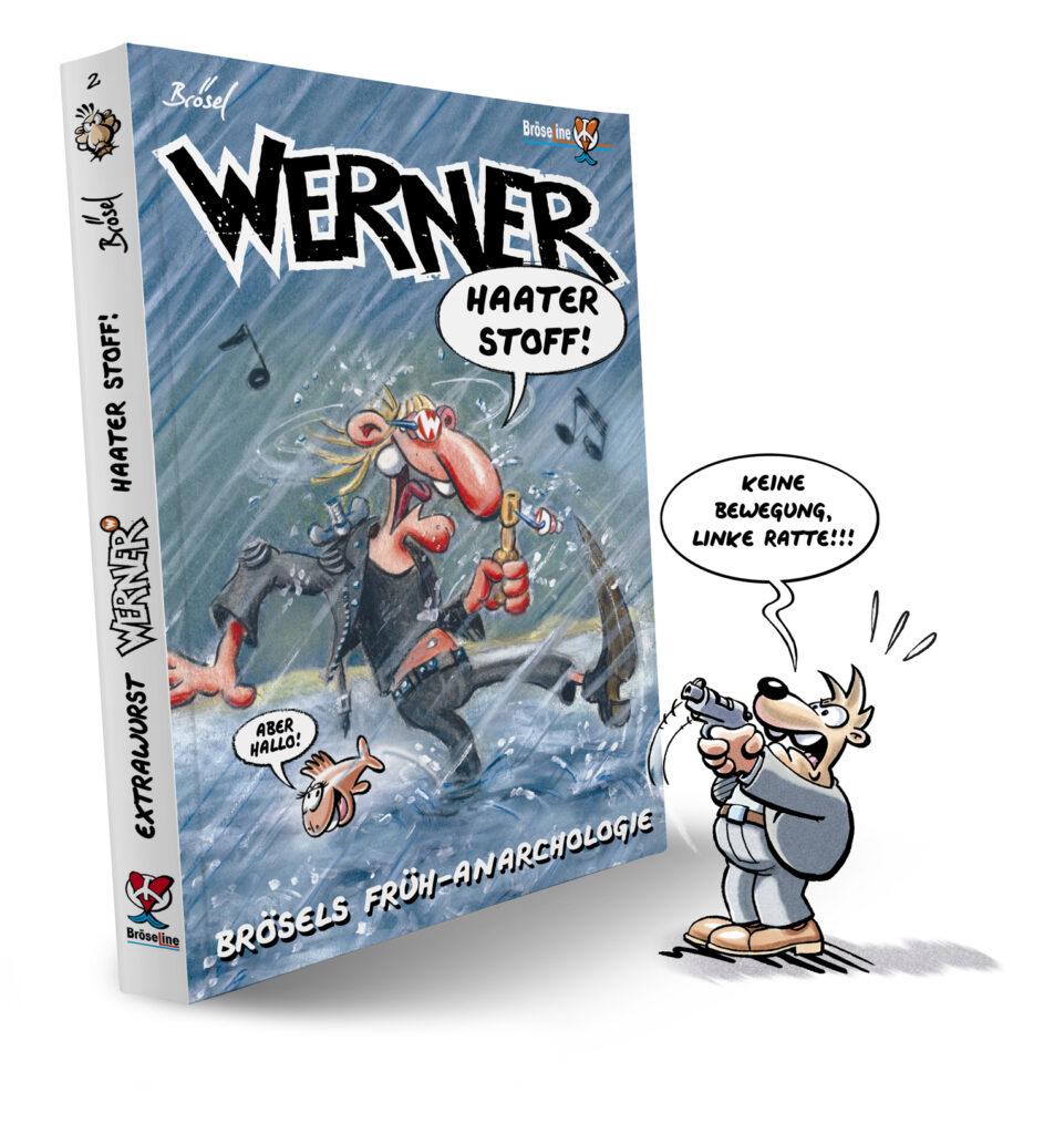 Rötger Feldmann, Brösel, Werner, Comic, WERNER – HAATER STOFF!, Neuerscheinung, Band, Rund ums Buch