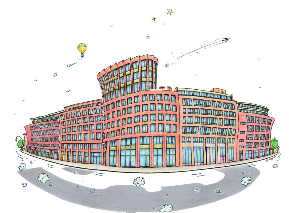 Enthüllung, Ulf Harten, Comiczeichner, Bergedorfer Tor, Hamburg, Bergedorf, Cartoonist, Stadtillustrationen, Wahrzeichen Zentrum Bergedorf