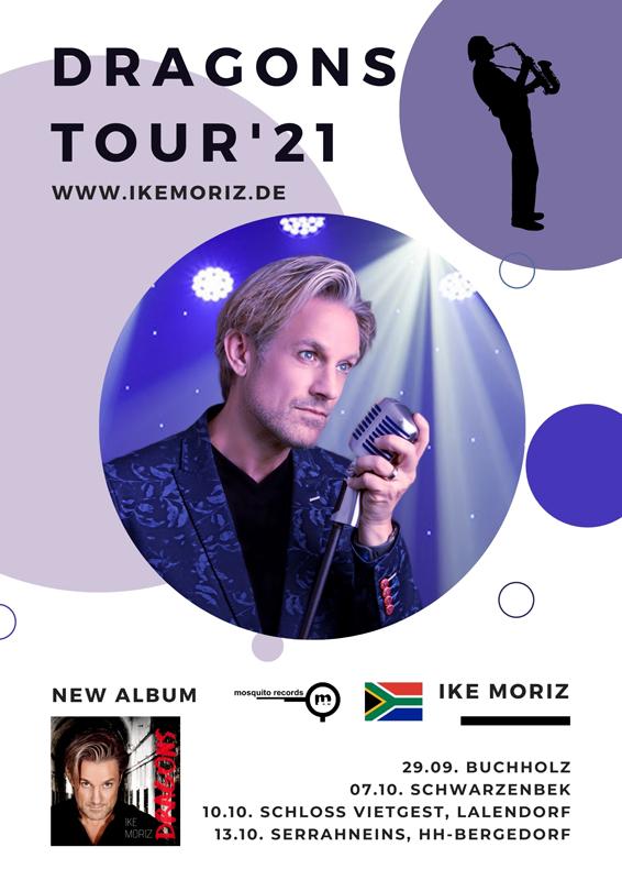 Ike Moriz, Kapstadt, Südafrikas Nr. 1, Indie Pop Idol, Sänger, Musiker, Deutschlandtournee, Auftritte, Konzerte, Kurt Buschmann, Saxophonist, HeidivomLande